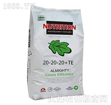 大量元素水溶肥料20-20-20+TE-农力士
