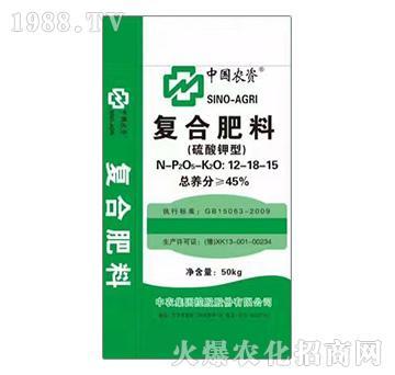 硫酸钾型复合肥料12-18-15-益生源