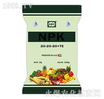 25kgRNZ水溶肥20-20-20+TE-九星惠農