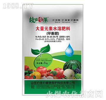平衡型大量元素水溶肥20-20-20+TE-故乡情深-心连心植物