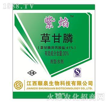30%草甘膦水剂-紫焰