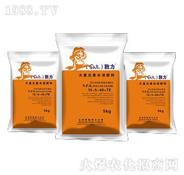 大量元素水溶肥料15-5-40+TE-敦力-施耐力