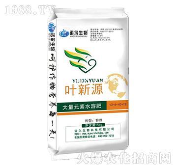 叶新源含腐植酸水溶肥13-6-40+TE-诺尔生物