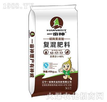 碳酶黄腐酸复混肥12-