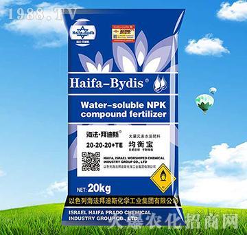 平衡型大量元素水溶肥20-20-20+TE-拜迪斯