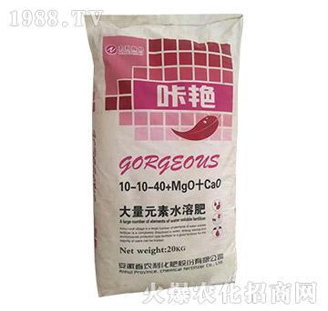 大量元素水溶肥10-10-40-咔艳-农利