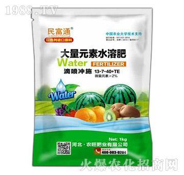 大量元素水溶肥13-7-40+TE(袋)-民富通-农旺肥业