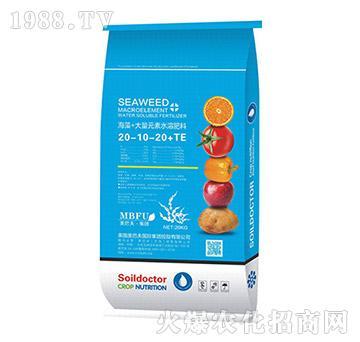 海藻酸水溶肥20-10-20+TE-美巴夫
