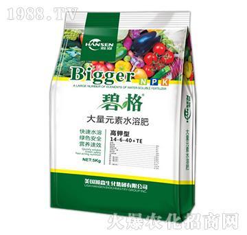 高钾型水溶肥大量元素水溶肥14-6-40+TE-碧格-瀚森农业