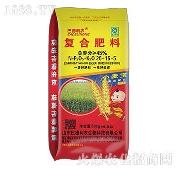 小麦宝黄金配比复合肥25-15-5-巴德利农