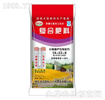 小麦高产专用配方复合肥料18-22-8-鄂阳-红太阳