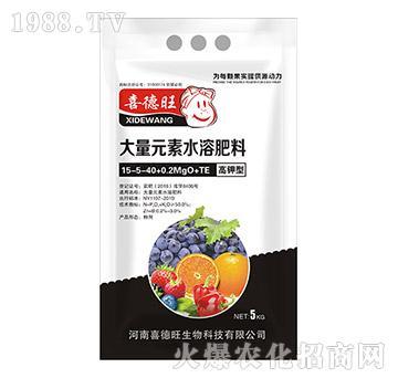 高钾型大量元素水溶肥15-5-40+0.2MgO+TE-喜德旺