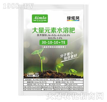 高氮型大量元素水溶肥30-10-10+TE-绿炫风-艾米洛