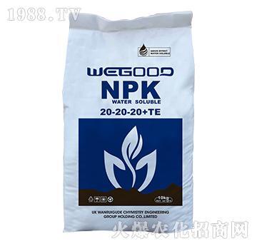 10kg大量元素水溶肥20-20-20+TE-WEGOOD-�f瑞谷德