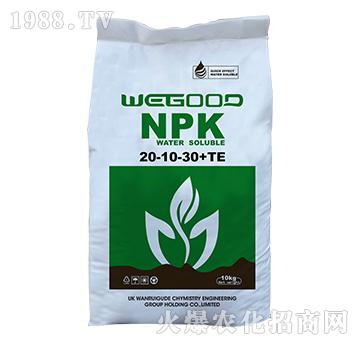 10kg大量元素水溶肥20-10-30+TE-WEGOOD-�f瑞谷德