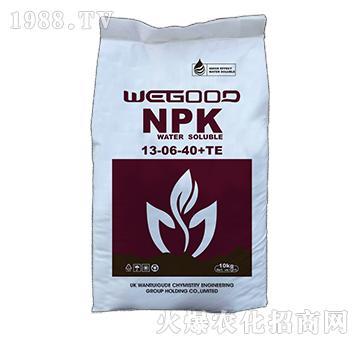 10kg大量元素水溶肥13-6-40+TE-WEGOOD-�f瑞谷德