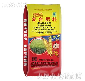 螯合腐植酸型复合肥25-15-5-巴德利农
