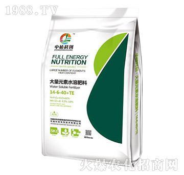 大量元素水溶肥料14-6-40+TE-中植科创