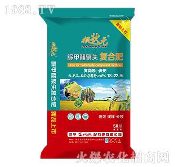 黄腐酸小麦脲甲醛聚失复合肥18-22-5-根壮元-金网联