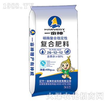 碳酶螯合稳定性复合肥料26-12-12-一亩神