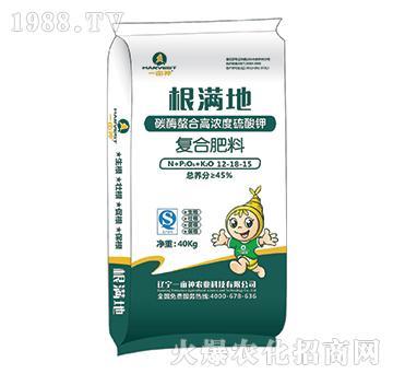 碳酶螯合高浓度硫酸钾12-18-15-根满地-一亩神