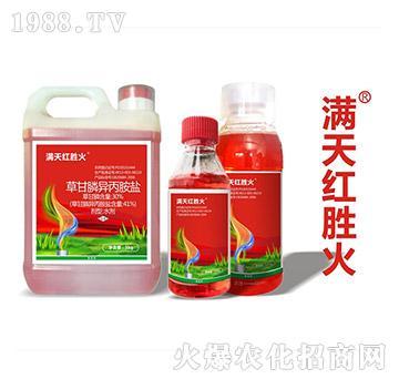 41%草甘膦异丙胺盐-满天红胜火-满天红