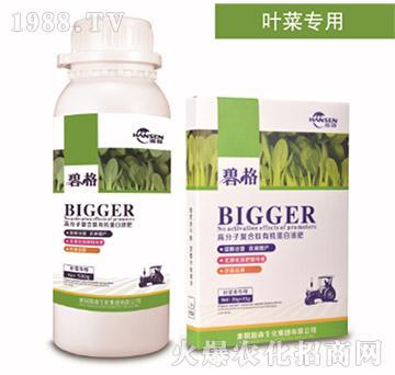 叶菜专用高分子复合肽有机蛋白液肥-碧格-瀚森农业