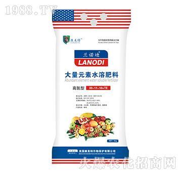高氮型大量元素水溶肥30-11-10+TE-兰诺迪-康美特