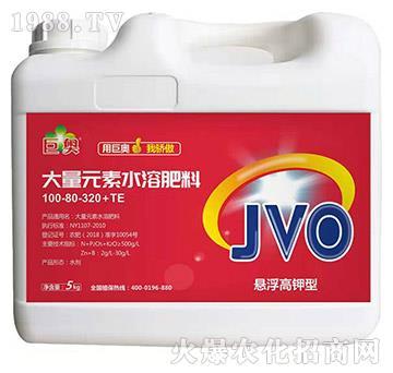悬浮高钾型大量元素水溶肥料100-80-320+TE-巨奥
