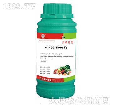 高磷钾型水溶肥料0-400-500+Te-贝尔