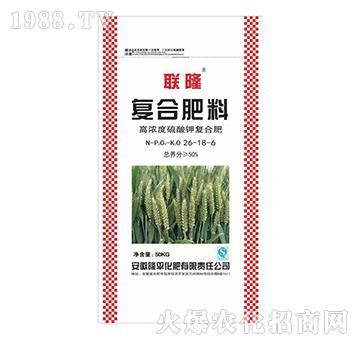 高濃度硫酸鉀復合肥料26-18-6-聯隆