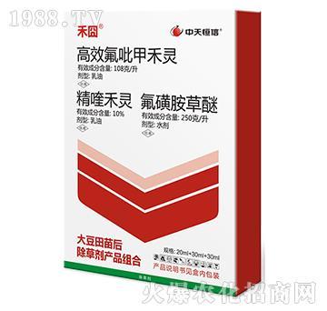 高效氟吡甲禾灵+10%精喹禾灵+氟磺胺草醚-禾��-中天恒信