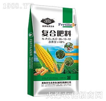 氨化工艺复合肥通用型氯基(含氯低氯氯根6-8%)26-10-12-美凯华