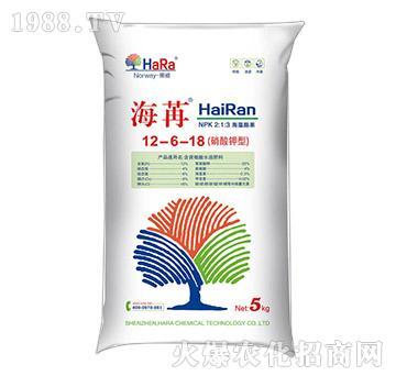 硝酸钾型水溶肥料12-6-18-海苒