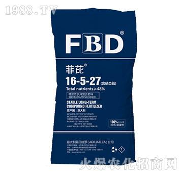 稳定性长效复合肥料16-5-27-菲芘-恩正