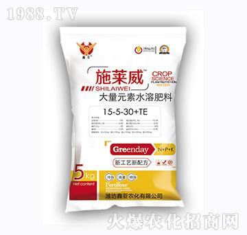 高鉀型大量元素水溶肥料15-5-30+TE-施萊威-鑫亞