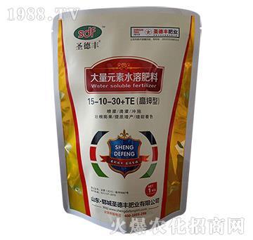 高钾型大量元素水溶肥料15-10-30+TE-圣德丰