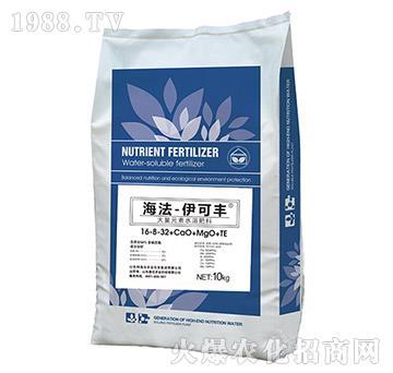 大量元素水溶肥料16-8-32+CaO+MgO+TE-伊可豐-海法