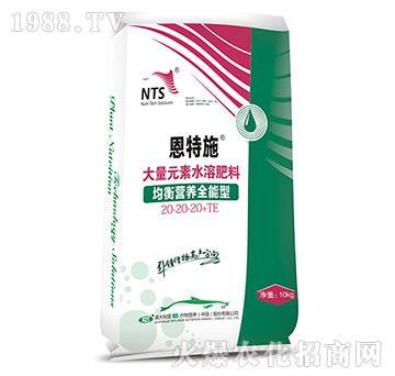 大量元素水溶肥料20-20-20+TE-恩特施