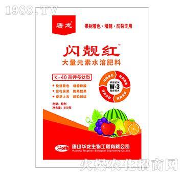K-40高钾多钛型大量元素水溶肥料-闪靓红-唐龙