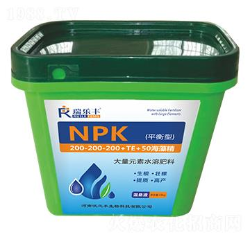 平衡型大量元素水溶肥料200-200-200+TE+50海藻精-瑞乐丰-恒绿植物