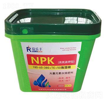 高氮高钾型大量元素水溶肥料180-30-380+TE+50海藻精-瑞乐丰-恒绿植物