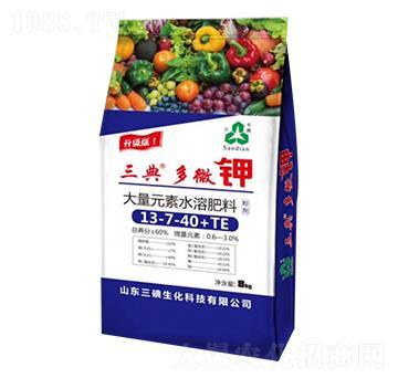 大量元素水溶肥料13-7-40+TE-多微钾-三碘生化