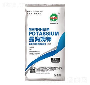 新型水溶性農用硫酸鉀-曼海姆鉀-百年大地-金大地
