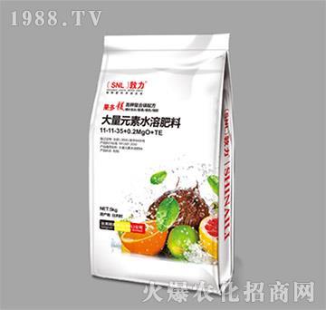 大量元素水溶肥料11-11-35+0.2MgO+TE-施耐力