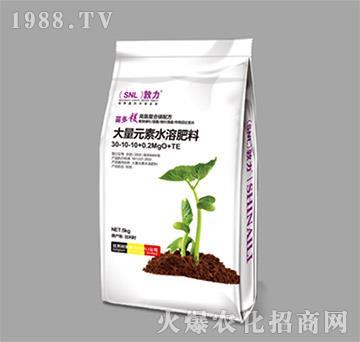 大量元素水溶肥料30-10-10+0.2MgO+TE-施耐力