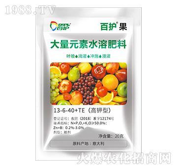 高钾型大量元素水溶肥料(20kg)13-6-40+TE-百护