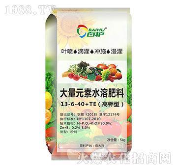 高钾型大量元素水溶肥料13-6-40+TE-百护
