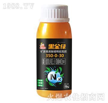 礦源黃腐酸緩釋超氮肥350-0-30-黑金綠-萬邦