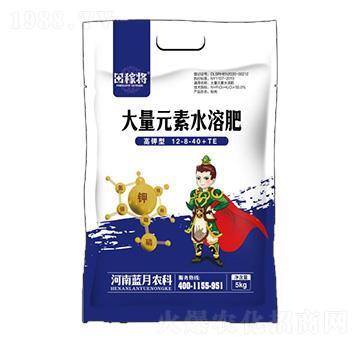 高钾型大量元素水溶肥料12-8-40+TE-田稼将-蓝月农科